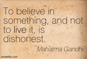 Belief and Dishonesty Gandhi